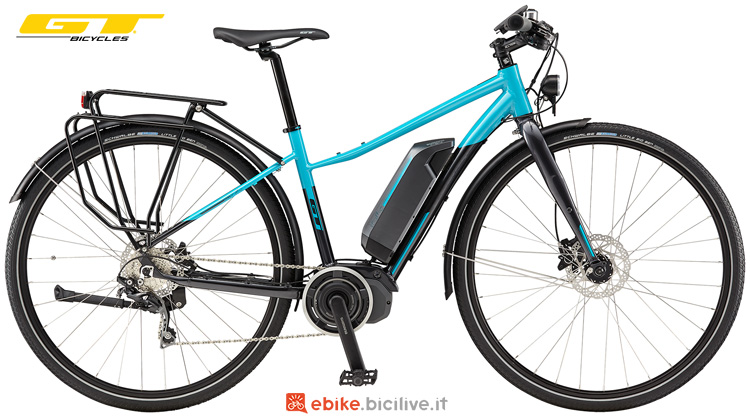 Una city ebike GT eTraffic Amp Step-Thru