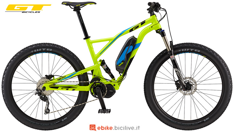 Una mtb elettrica GT eVerb Current