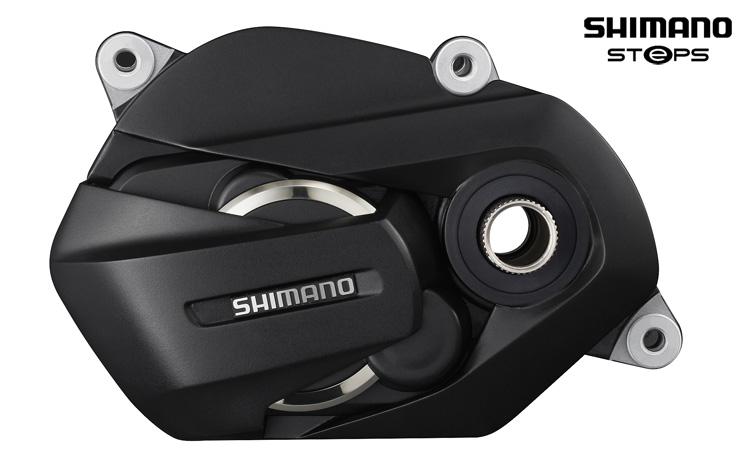 Un motore Shimano STEPS E7000 di profilo