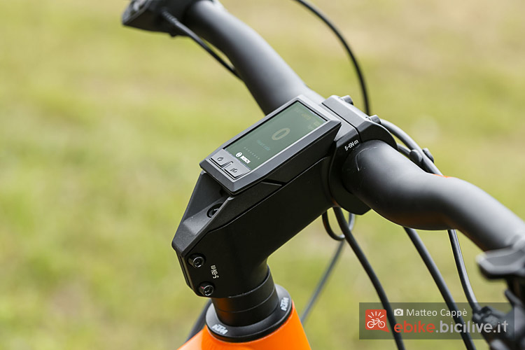 supporto ciclocomputer nelle bici KTM