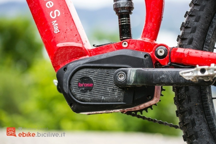 foto del nuovo Brose S Mag montato su una ebike test.