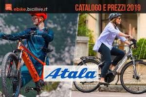 biker con emtb Atala e signora con city bike elettrica