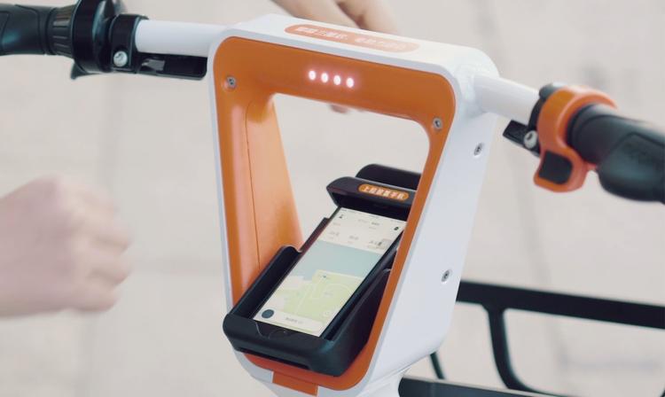 Supporto smartphone ebike Mobike