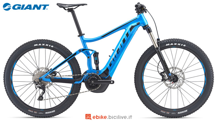 Una ebike full suspended Giant Stance E+2 Power