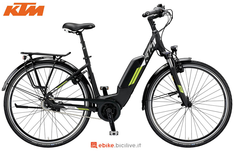 Una city ebike KTM Macina Central RT 8 A+5 della gamma 2019