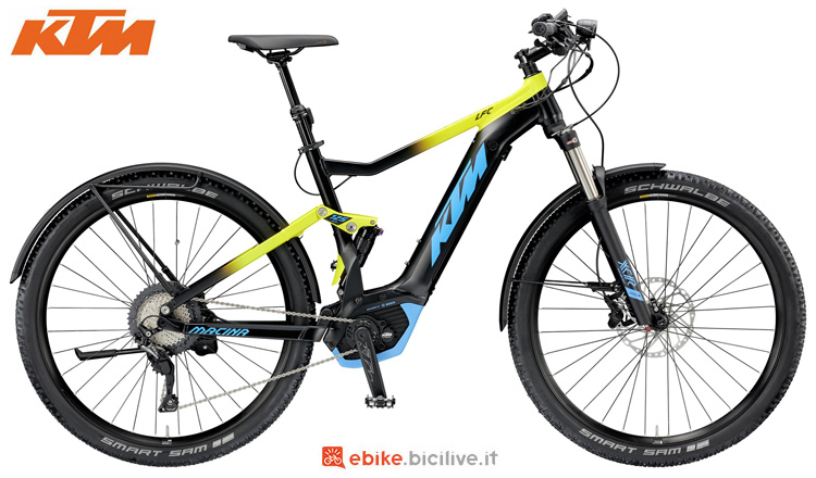 Una mountain bike elettrica KTM Macina Chacana LFC dal catalogo 2019