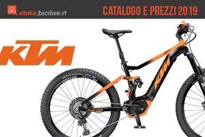 KTM: catalogo e listino prezzi 2019 eMTB ed eBike