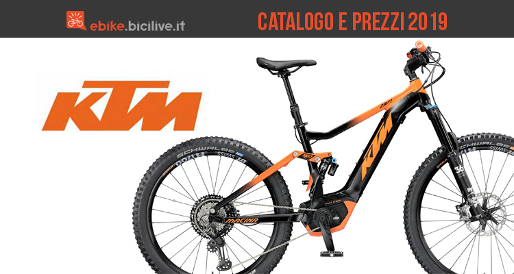 ktm ebike emtb 2019 catalogo e listino prezzi bici elettriche. Black Bedroom Furniture Sets. Home Design Ideas