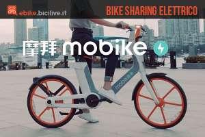 ciclista prova la nuova Mobike elettrica