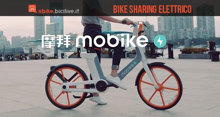 Mobike Ebike La Bicicletta Elettrica Progettata Per Bike Sharing