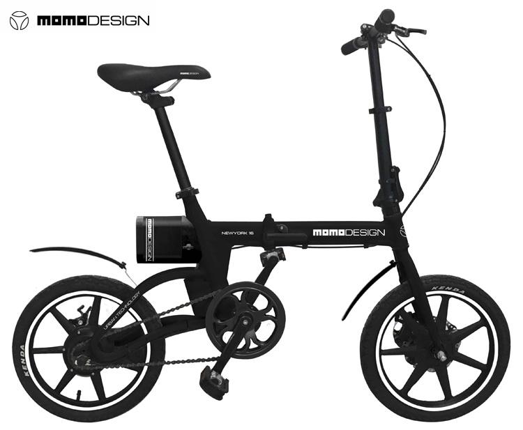 Una bici pieghevole elettrica MOMODESIGN New York 16