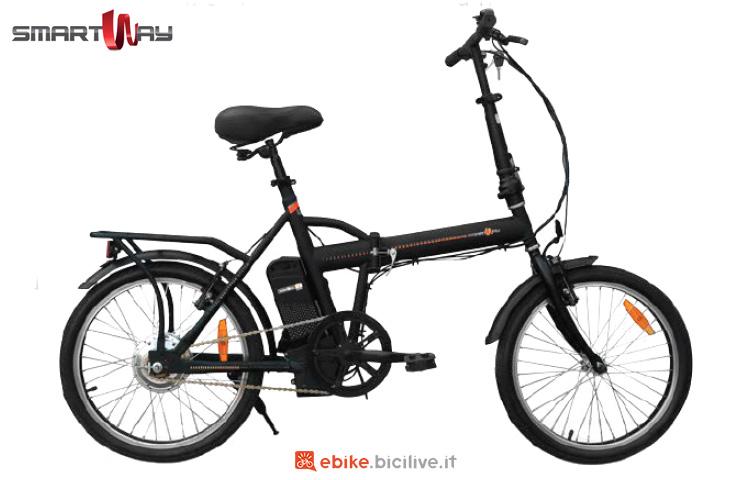 Una folding ebike SmartWay Bike Pieghevole Unisex F2