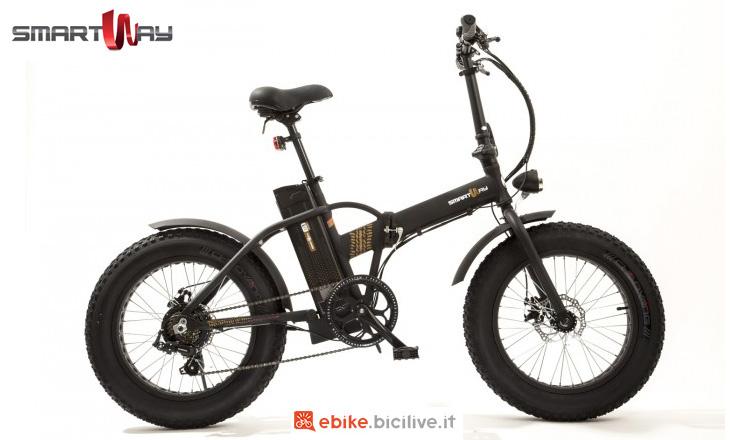 Bici elettrica pieghevole con gomme fat SmartWay Monster Bike Pieghevole M1