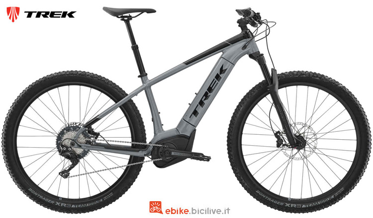 Una mtb elettrica hardtail Trek Powerfly 7 2019