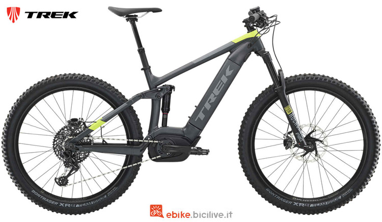 Una mtb elettrica full suspended Powerfly FS 9 2019