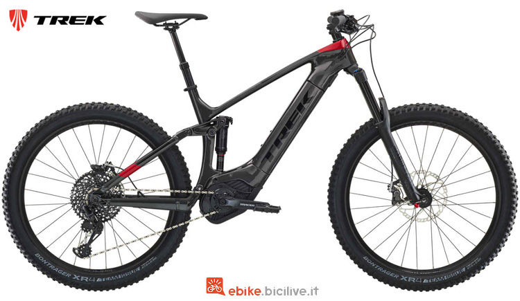 Una eMTB Powerfly LT 9.7 Plus dalla gamma 2019 Trek