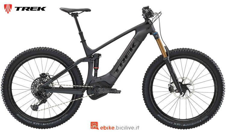 Una mtb elettrica Trek Powerfly LT 9.9 Plus 2019