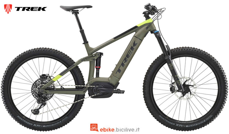 Una mountain bike a pedalata assistita Trek Powerfly LT 9 Plus 2019