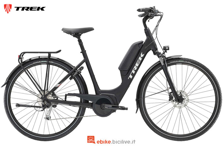 Una bicicletta a pedalata assistita Trek TM2+ Lowstep DT anno 2019