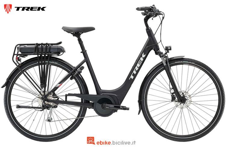 Una bici elettrica Trek TM2+ Lowstep della gamma 2019