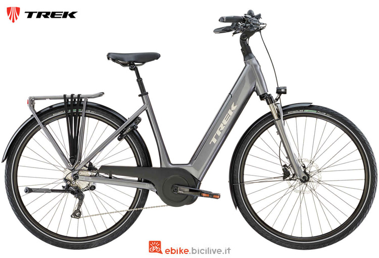Una bici elettrica da trekking TM4+ Lowstep dal catalogo 2019 Trek