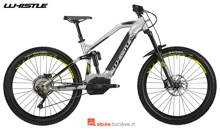 Una mountain bike fs elettrica Whistle B-Lynx 2019
