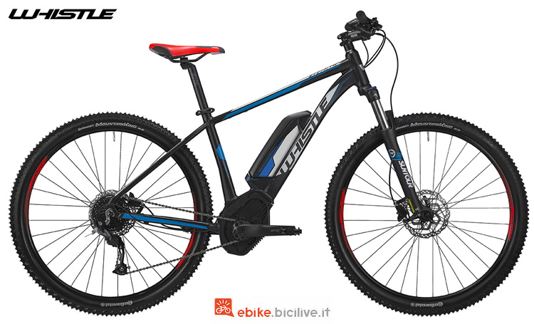 Una eMTB front Whistle B-Race CX400 dal catalogo 2019