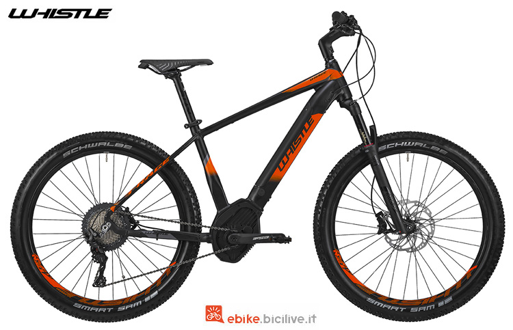 Una eMTB con forcella ammortizzata Whistle B-Race S 2019
