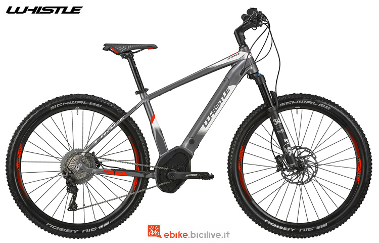 Una e-mtb da cross country Whistle B-Race SL 2019