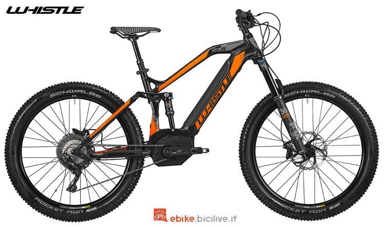 Una mtb elettrica da All Mountain Whistle B-Rush Plus SLS 2019