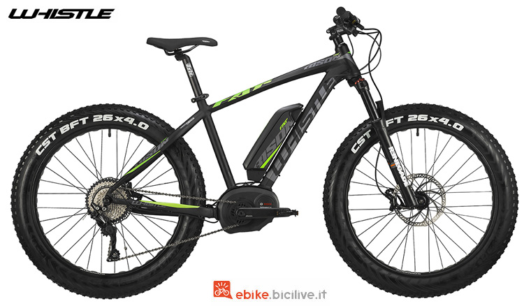 Una mtb hardtail elettrica Whistle Bison 2019