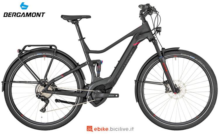 Una bici a pedalata assistita Bergamont E-Horizon FS Elite 2019