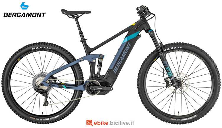 Una mountain bike elettrica full suspended Bergamont E-Trailster Expert 29