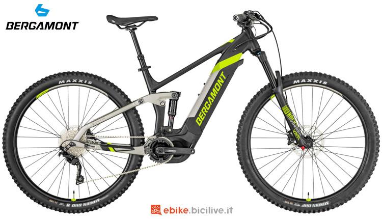 Una mtb elettrica biammortizzata Bergamont E-Trailster Sport 29 2019