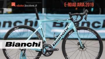 bici elettrica da corsa Bianchi Aria 2019