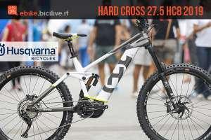 mtb elettrica Husqvarna Hard Cross 27.5 HC8 2019