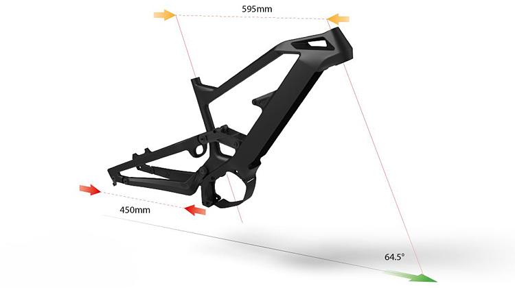 geometria della MTB elettrica Olympia Hammer