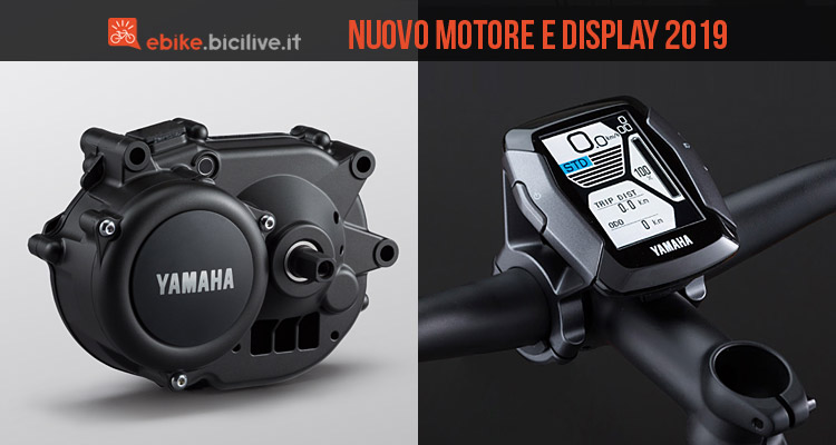 nuovo motore e display per ebike Yamaha 2019
