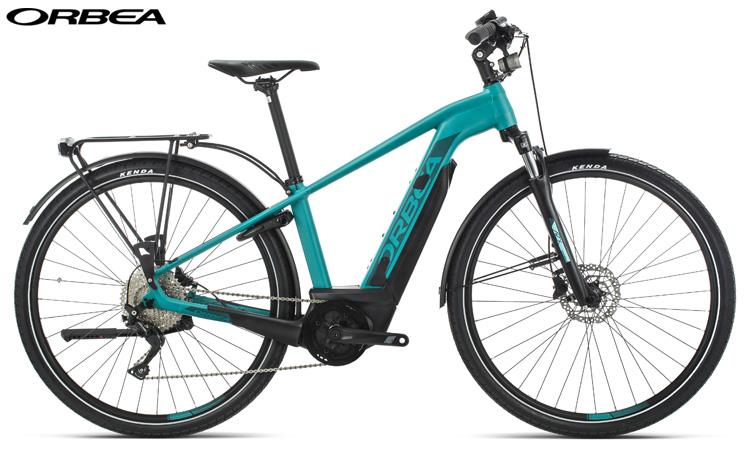 Una bici elettrica da trekking Una ebike Orbea Keram Comfort 20