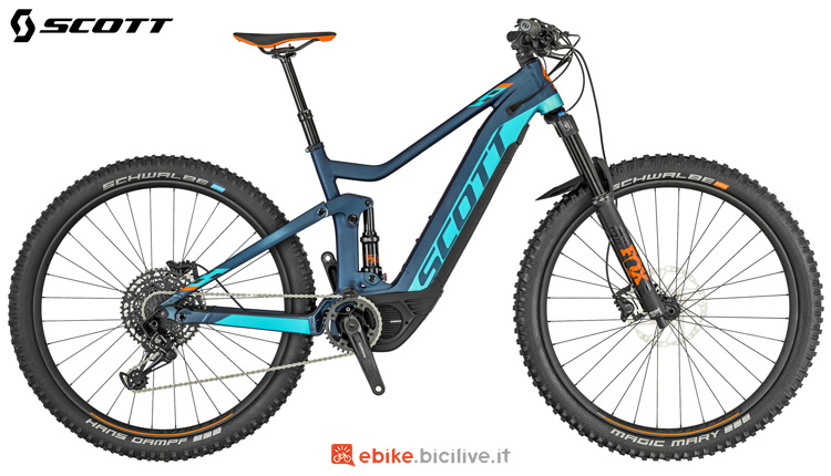 Una mountain bike a pedalata assistita Scott Genius eRide 720 2019