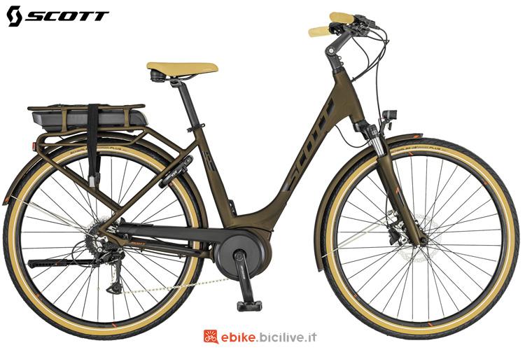 Una bicicletta elettrica Scott Sub Active eRide Unisex portapacchi t. Bici 2019