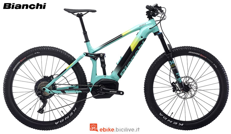 Una mountain bike full suspended Bianchi Avenger FS 7.2 2019