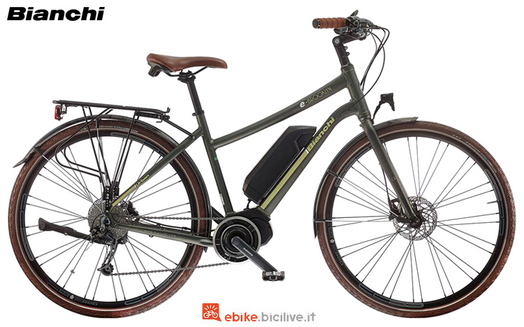 Una city ebike Bianchi Brooklyn Lady dal catalogo 2019