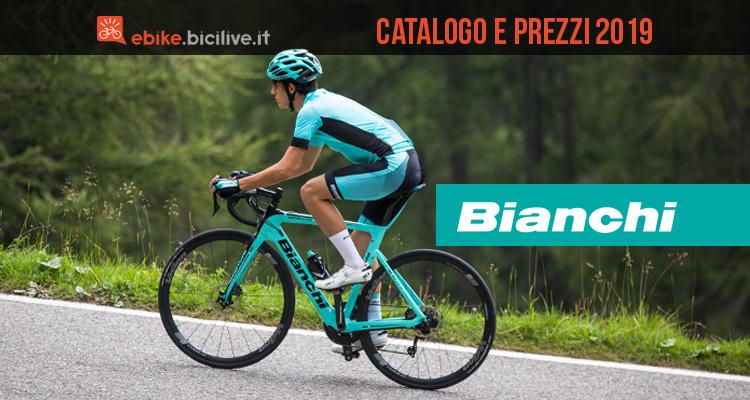 Bianchi ebike 2019: catalogo listino prezzi