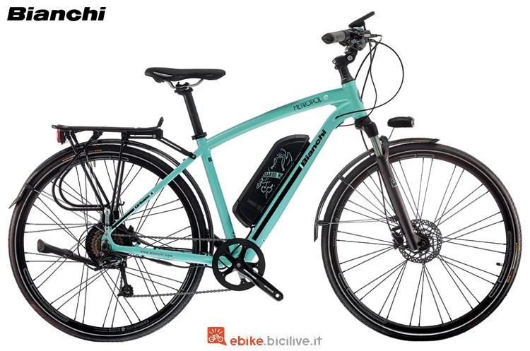 Una bici elettrica da città Bianchi Metropol-e Gent gamma 2019