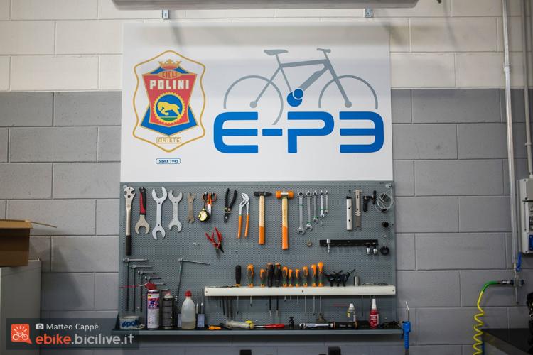 foto della postazione per i motori polini ep3