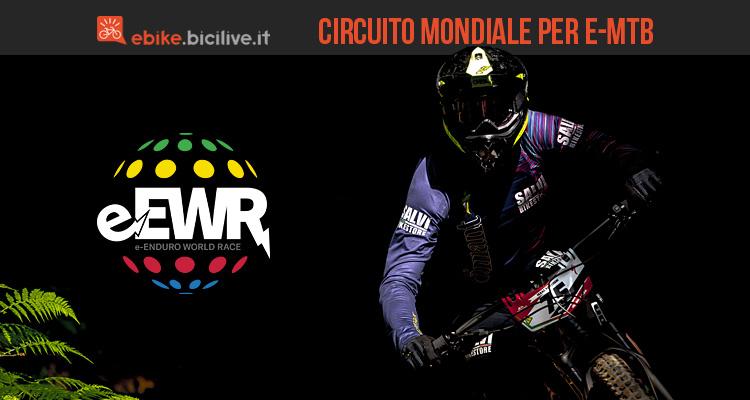 biker del circuito per MTB elettriche e-ewr