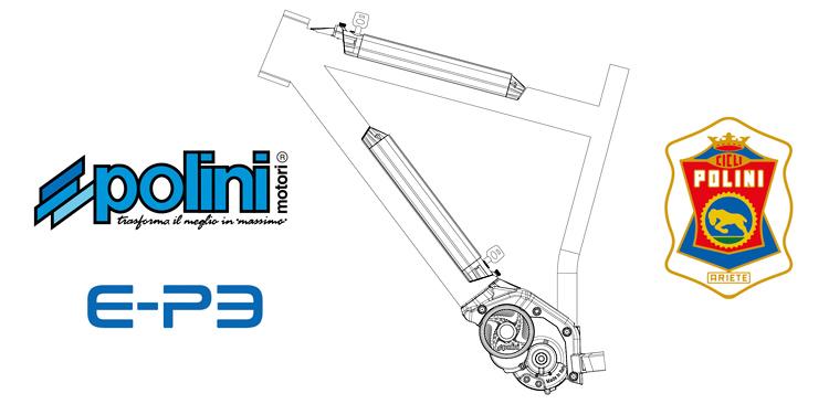 schema del motore con doppia batteria Polini EP 3