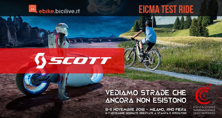 Il test delle ebike Scott a EICMA 2018