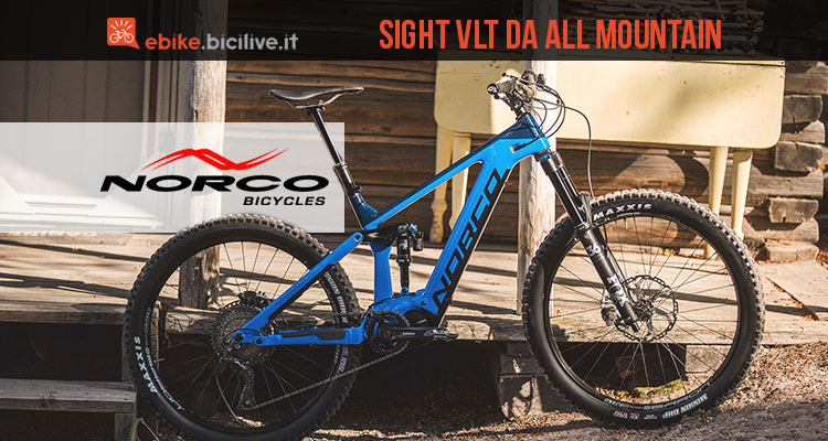 Norco Sight VLT la ebike da all mountain con telaio in carbonio